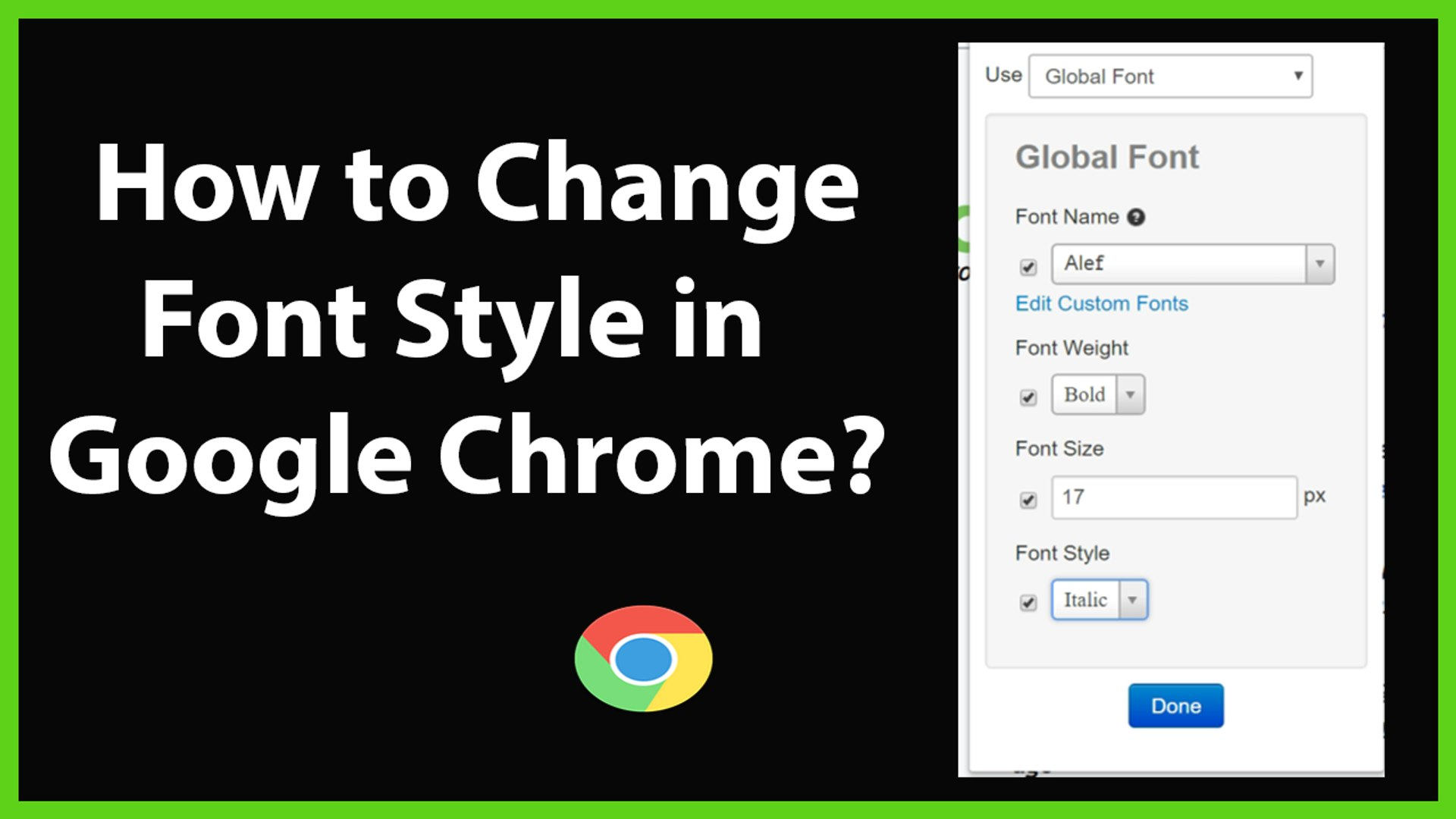 How To Change Font Style In Google Chrome