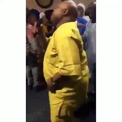 Watch Davido's Uncle Senator Adeleke Dancing Gbe Body