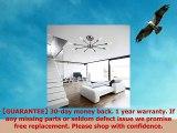 OYI Ceiling Sputnik Chandelier Lighting 8 Lights Semi Flush Mount Ceiling Lamp Modern