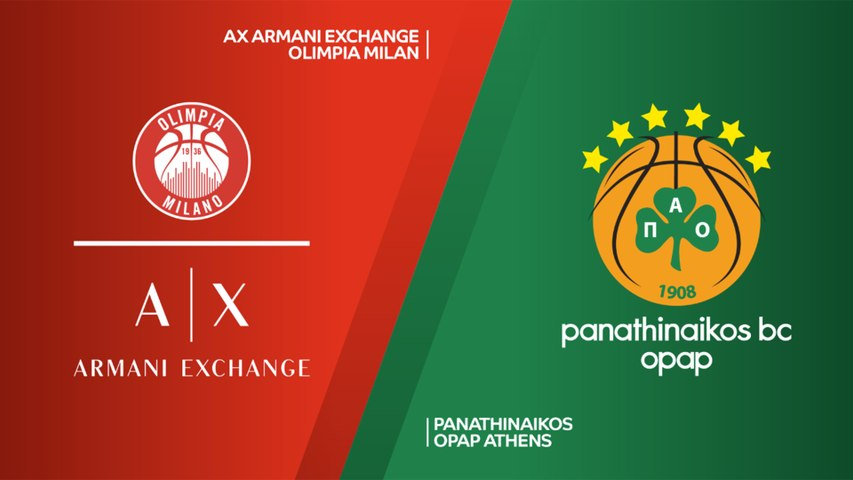 AX Armani Exchange Olimpia Milan - Panathinaikos OPAP Athens Highlights |EuroLeague RS Round 28