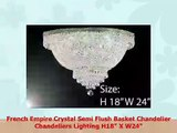 French Empire Crystal Semi Flush Basket Chandelier Chandeliers Lighting H18 X W24