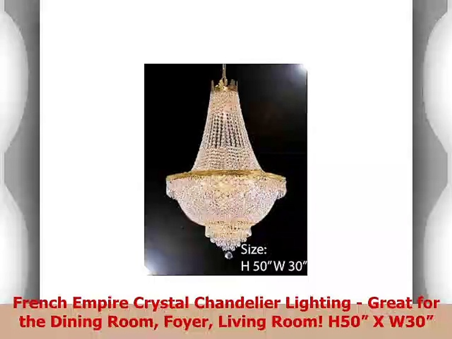French Empire Crystal Chandelier Lighting Great For The Dining Room Foyer Living Room