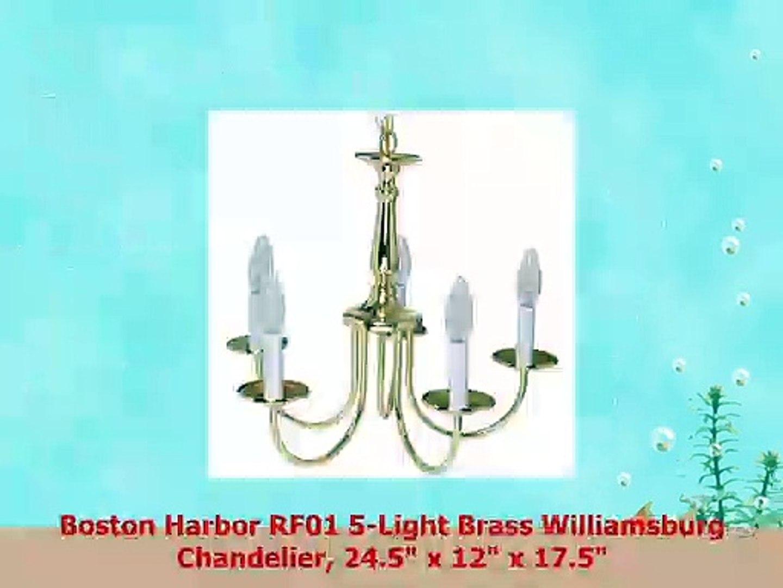 Boston Harbor RF01 5Light Brass Williamsburg Chandelier 245 x 12 x 175