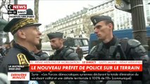 Le nouveau Préfet de Police brieffe ses troupes sur les Champs-Elysées avant une nouvelle journée de mobilisation des Gilets jaunes - Regardez