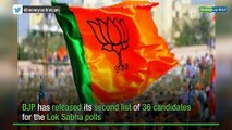 BJP releases second list of candidates for Lok Sabha polls