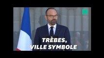 """Arnaud Beltrame, """"un grand homme de notre Panthéon"""", salue Édouard Philippe"""