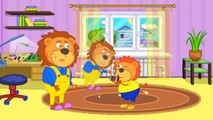 Lion De La Famille ♌ Des Clones À Partir D'Un Magasin De Photo De Dessin Animé Pour Les Enfants