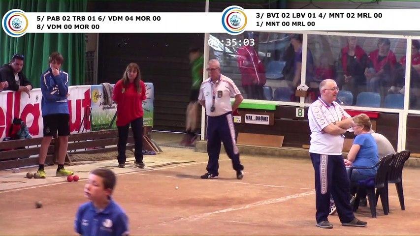 Second tour, double, point et tir de précision, demi-finales,  France Clubs Jeunes, Eybens 2019