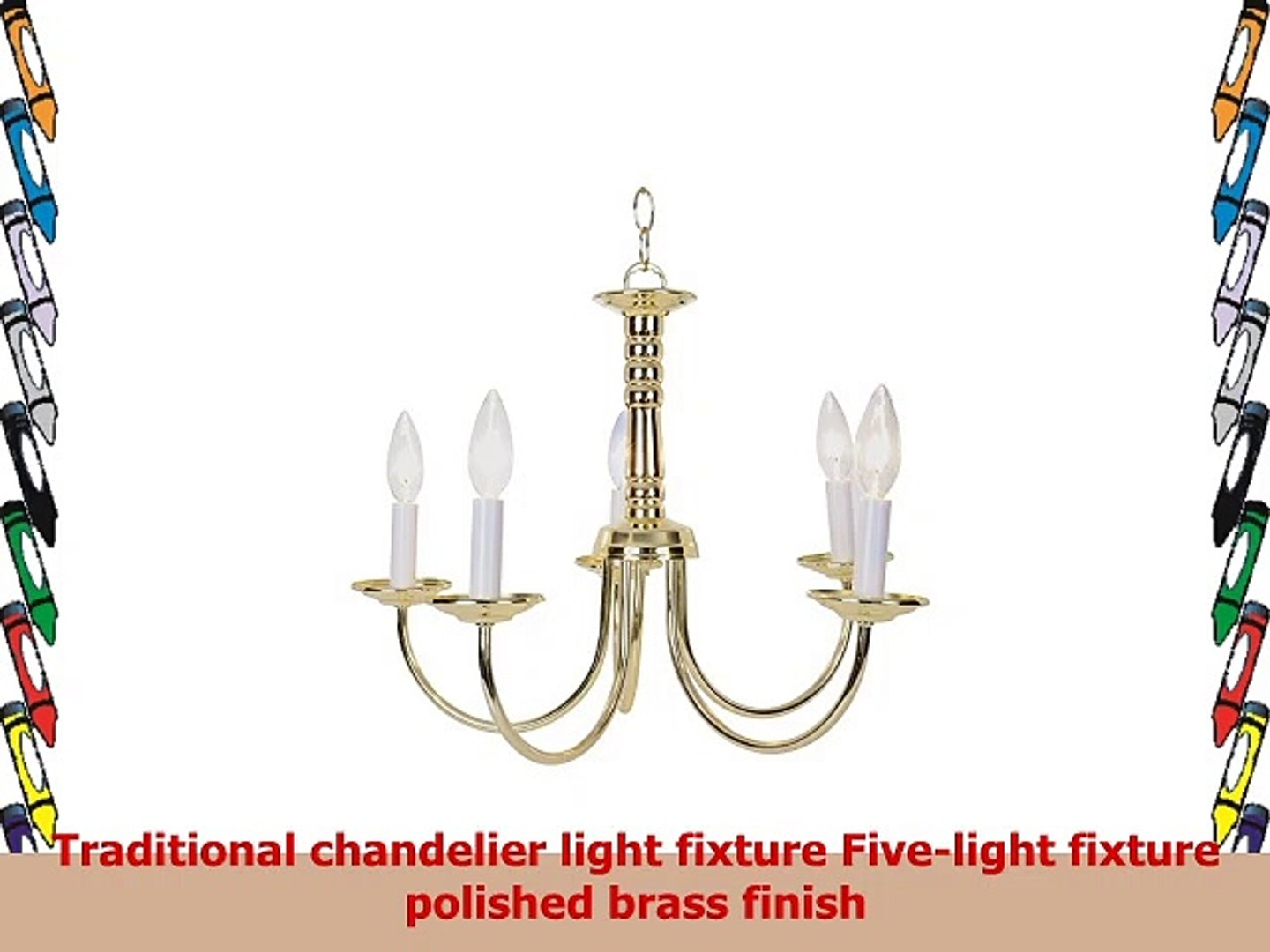 Monument 671705  Traditional Chandelier Polished Brass 18 X 12 In