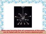 JONATHAN Y JYL9017A Glenn 8Light 225 Metal SputnikStyle Chandelier 225 x 875 x 225