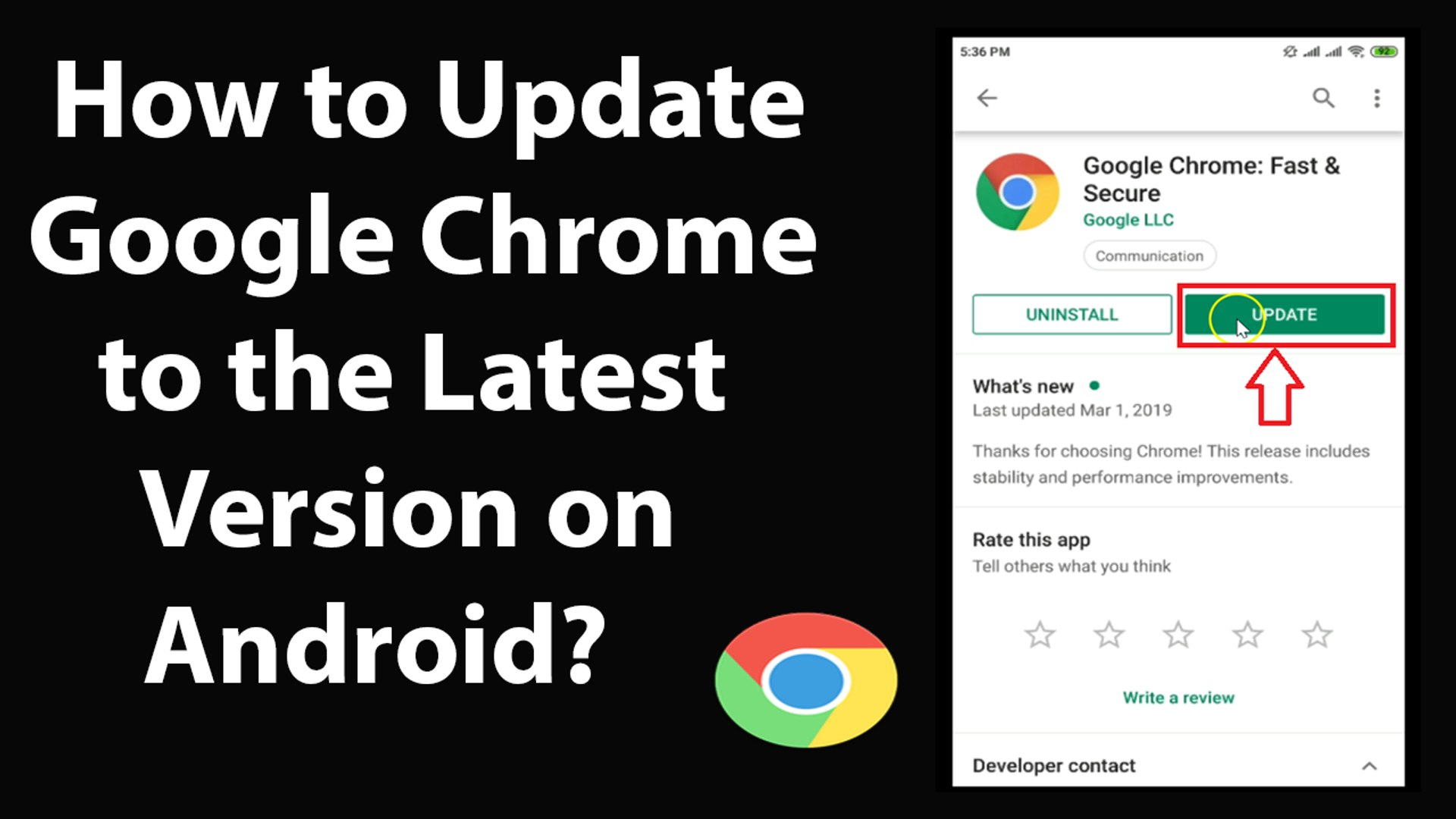 How to Update Google Chrome to the Latest Version on Android?