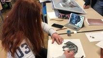 Parmi les 38 artistes, Clara trace sa voie