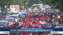 Pemain PSM Makassar Sosialisasikan Berkendara Aman
