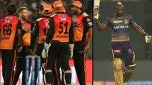 IPL 2019 : Russell Smashed 49 Runs To Kolkata Dramatic Win Over Sunrisers hyderabad