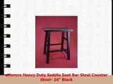 eHemco Heavy Duty Saddle Seat Bar Stool Counter Stool 24 Black