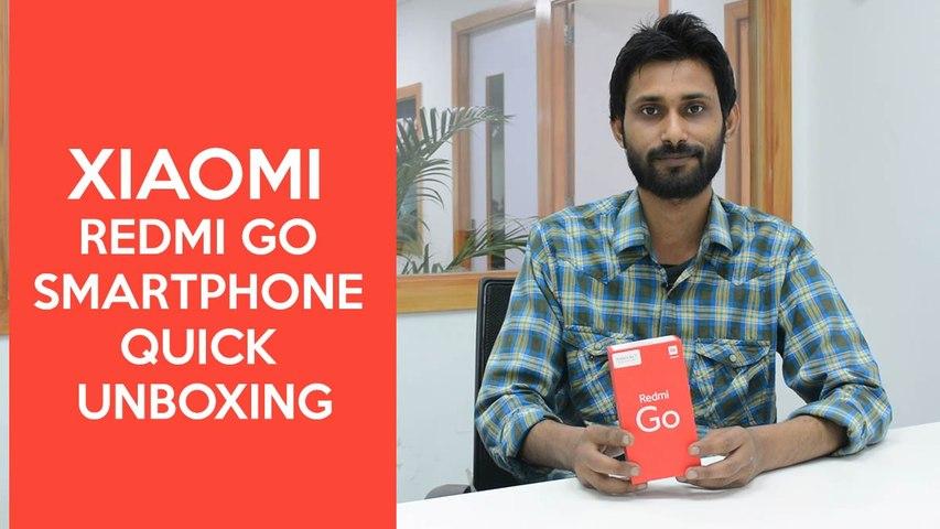 Xiaomi Redmi Go smartphone quick unboxing