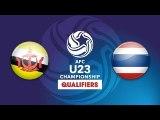 FULL   U23 BRUNEI vs U23 THÁI LAN   VFF Channel