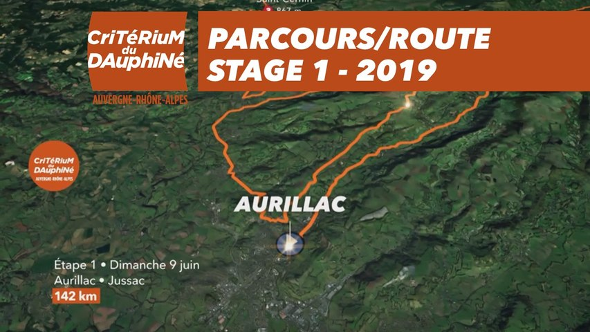 Parcours /Route - Étape 1/Stage 1  : Critérium du Dauphiné 2019