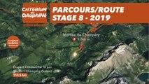 Parcours /Route - Étape 8/Stage 8 : Critérium du Dauphiné 2019