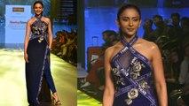 Rakul Preet Singh wears blue dress at Bombay Times Fashion Week 2019 | Boldsky