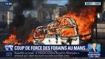 Au Mans, de violents affrontements avec les forces de l'ordre lors d'une manifestation de forains
