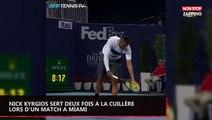 Nick Kyrgios sert deux fois à la cuillère lors d'un match à Miami (vidéo)