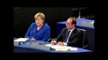 On a recréé la passe d'armes entre François Hollande et Marine Le Pen à Strasbourg