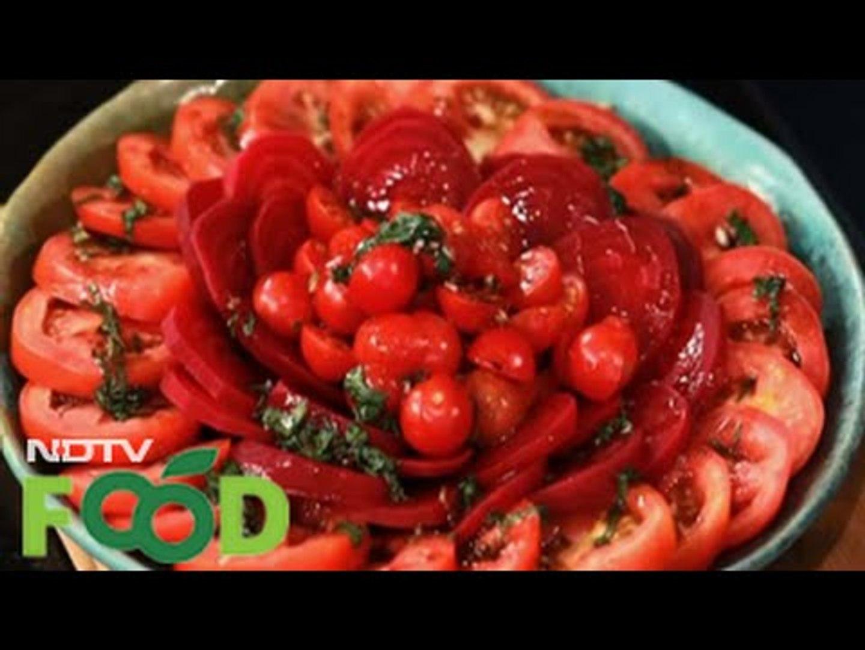 Watch recipe: Tomato & Pickled Beet Salad