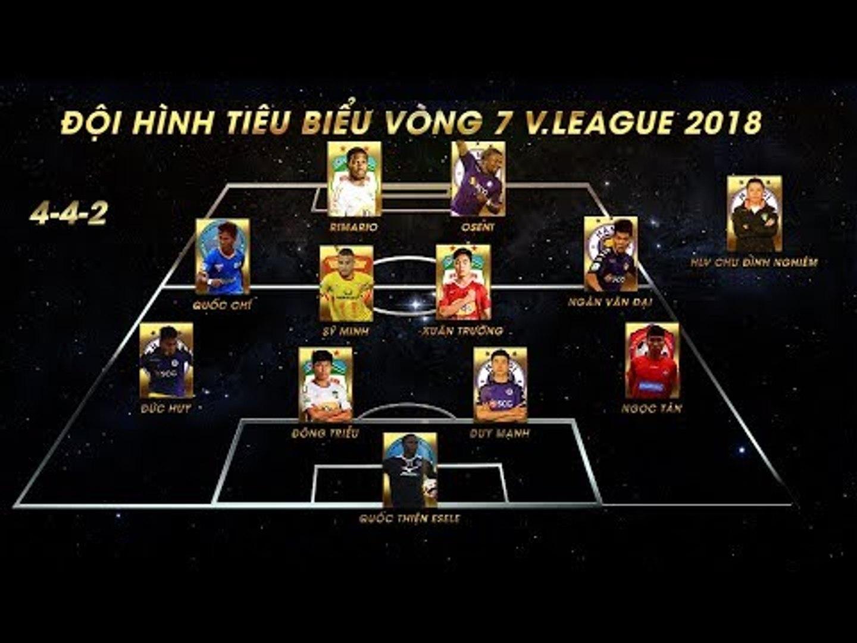 ĐHTB vòng 7 V.League 2018 | HAGL cùng Hà Nội áp đảo phần còn lại | VPF Media