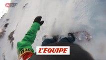 Le run engagé de Victor de Le Rue à Verbier - Adrénaline - Snowboard freeride