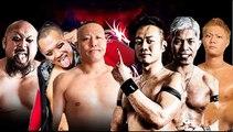 R.E.D. (KAZMA SAKAMOTO, Takashi Yoshida & Yasushi Kanda) (c) vs. MaxiMuM (Kaito Ishida, Masato Yoshino & Naruki Doi) Open The Triangle Gate Title Match Dragon Gate Champions Gate 2019 In Osaka
