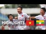 Thắng U21 Myanmar thầy trò HLV Trịnh Duy Quang có 3 điểm đầu tiên