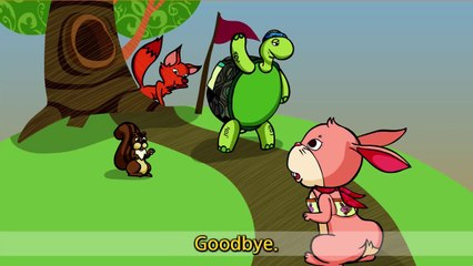 The Tortoise and the Hare - Good morning (Greeting) - English Aesop´s Fables for kids
