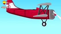 L'Avion Du Hangar De La Construction De La Conception De L'Avion | Kids Videos