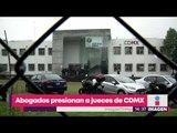Abogados presionan a Tribunal de CDMX para que los jueces los beneficien   Noticias con Yuriria