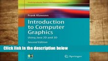 Popular Introduction to Computer Graphics: Using Java 2D and 3D - Frank Klawonn