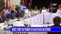 2019 nat'l budget, target mai-transmit sa Palasyo bago ang Biyernes
