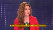 """#GiletsJaunes ? """"Il faut être extrêmement ferme sur les questions d'ordre public, depuis le mois de novembre, les Français.es subissent des samedis de blocage, de violence"""" affirme Marlène Schiappa"""