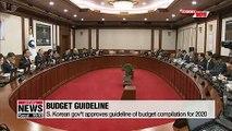 S. Korean gov't approves guideline of budget compilation for 2020