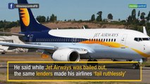 After Jet Airways bailout, Vijay Mallya criticises public sector banks for 'double standards'