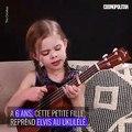 A 6 ans, cette petite fille reprend Elvis au ukulélé