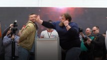 On Your Marks, Get, Set ... SLAP!! - Face slapping contest hits Krasnoyarsk