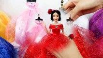 Princesse Robe de poupée - Blanche-Neige, Cendrillon, Raiponce Elsa la belle au bois Dormant la Belle Sirène
