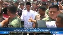 Jokowi Disambut Meriah Warga Lhokseumawe