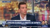 """Jordan Bardella, tête de liste RN aux européennes, estime que """"Nathalie Loiseau représente ce qui ne fonctionne pas dans l'Union européenne"""""""