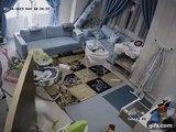 Une femme de ménage sauve la vie d'un bébé des secondes avant l'effondrement du toit