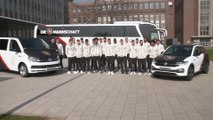 German national football team visits the Wolfsburg Volkswagen plant