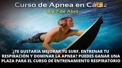 Gana un curso gratis de entrenamiento respiratorio y apnea aplicados al surf