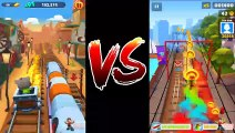 Talking Tom Gold Run New Update Mining Cart Ride Vs Subway Surfers (Talking Tom & Lucy Goth Outfit Subway Surfers )