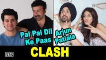 Diljit - Kriti CLASH with Sunny Deol's son Karan | Arjun Patiala VS Pal Pal Dil Ke Paas
